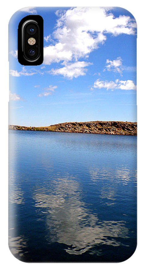 Sky Clouds Reflections Water Mountains Colorado Lakes IPhone X Case featuring the photograph Sky Reflections by George Tuffy