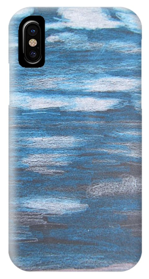 Sky IPhone X Case featuring the drawing Sky Sketch by Karen Henninger