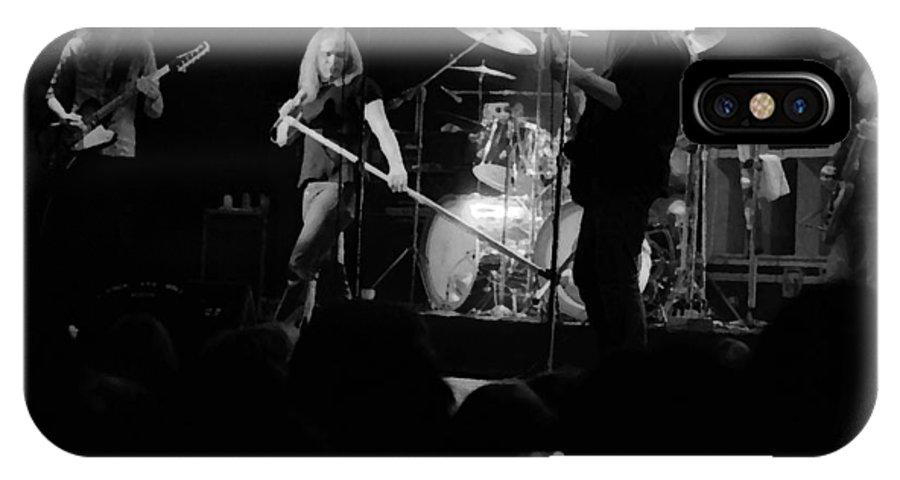 Lynyrd Skynyrd IPhone X Case featuring the photograph Skynyrd Sf 1975 #10 Crop 2 Enhanced In Bw by Ben Upham