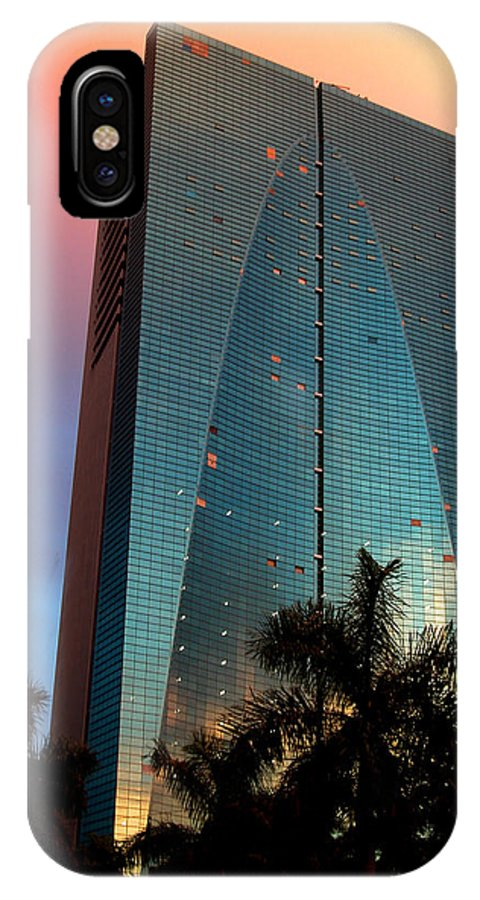 Building IPhone Case featuring the photograph Skyscraper In Miami by Carl Purcell