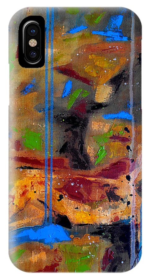Abstract IPhone Case featuring the painting Skyward by Ruth Palmer