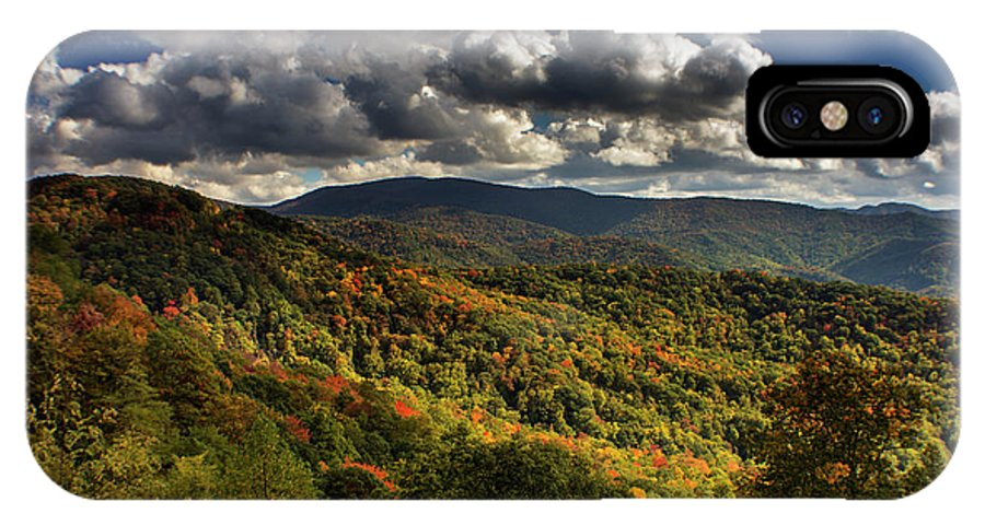 Tennessee IPhone X Case featuring the photograph Skyway Clouds by Chrystal Mimbs