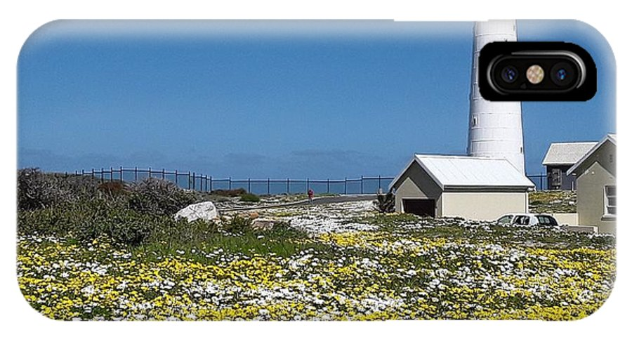 Lighthouse IPhone X Case featuring the photograph Slangkop Lighthouse, Kommetjie by Pamela Cooper