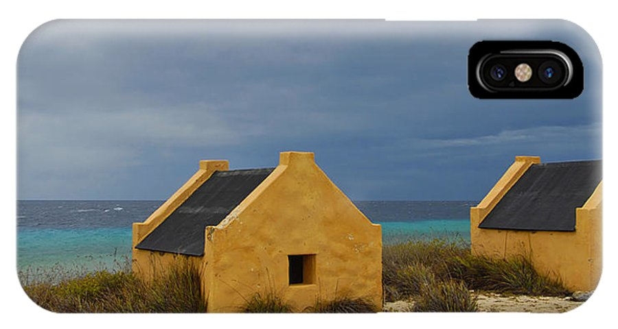 Slave IPhone X Case featuring the photograph Slave Huts by Stephen Anderson