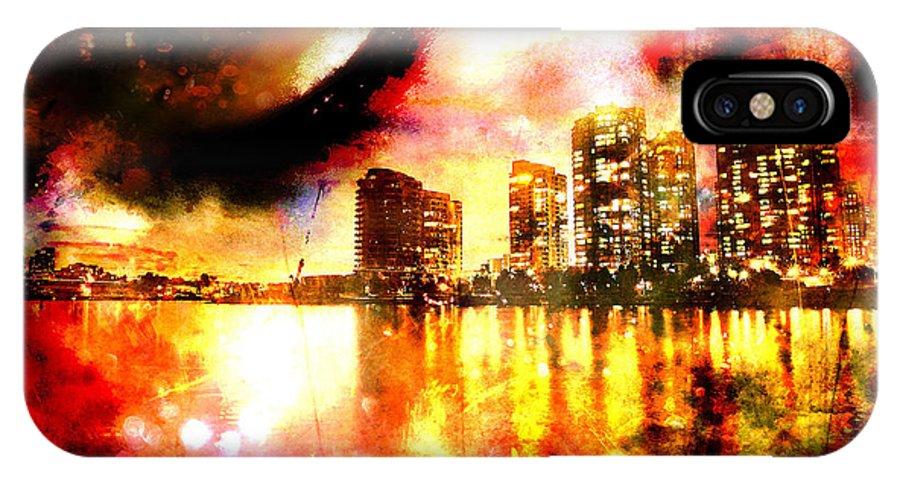 City IPhone X Case featuring the photograph Sleeper by Ken Walker