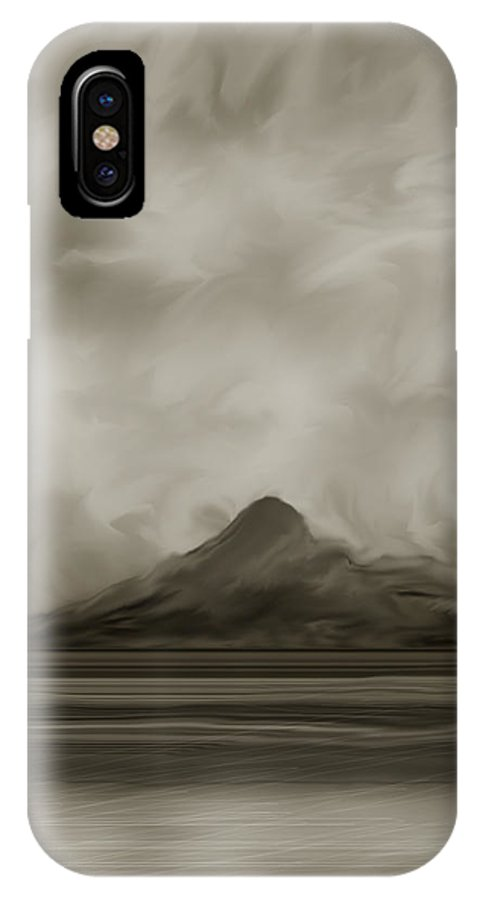 Wyoming IPhone X Case featuring the painting Sleeping Giant and Beck Lake by Anne Norskog