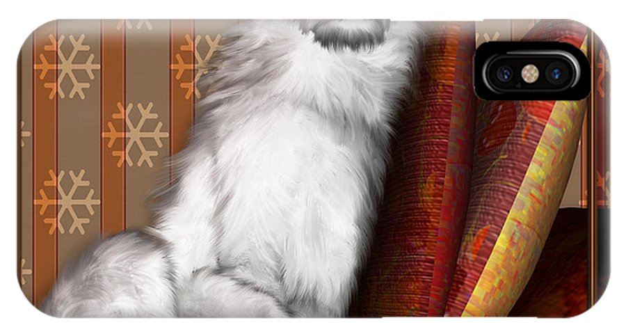 Dog IPhone Case featuring the digital art Sleeping Iv by Nik Helbig