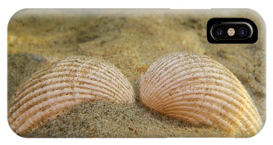 Shell IPhone X Case featuring the photograph Sleeping Mermaid by Are Lund