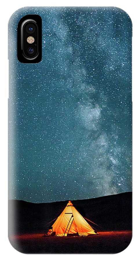 Altai IPhone X Case featuring the photograph Sleeping Under The Stars by Emily M Wilson