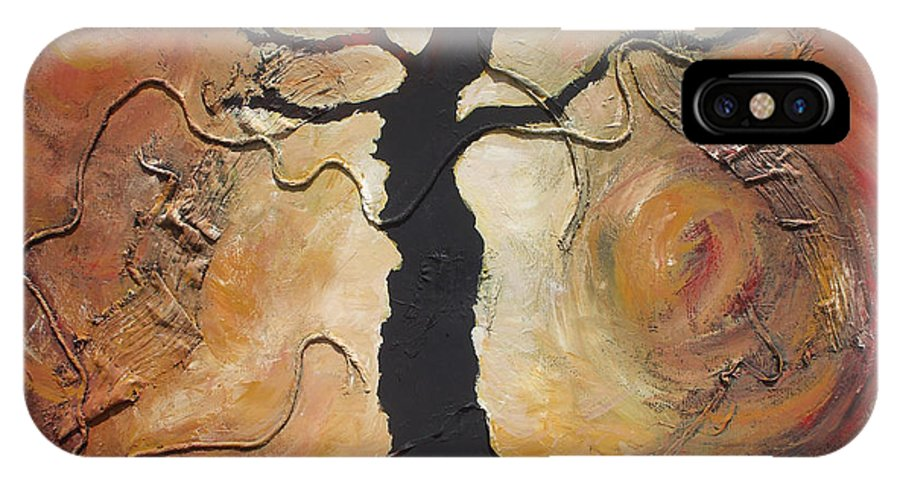 Trees IPhone X Case featuring the painting Sleepy Hollow by Jennifer Bonset