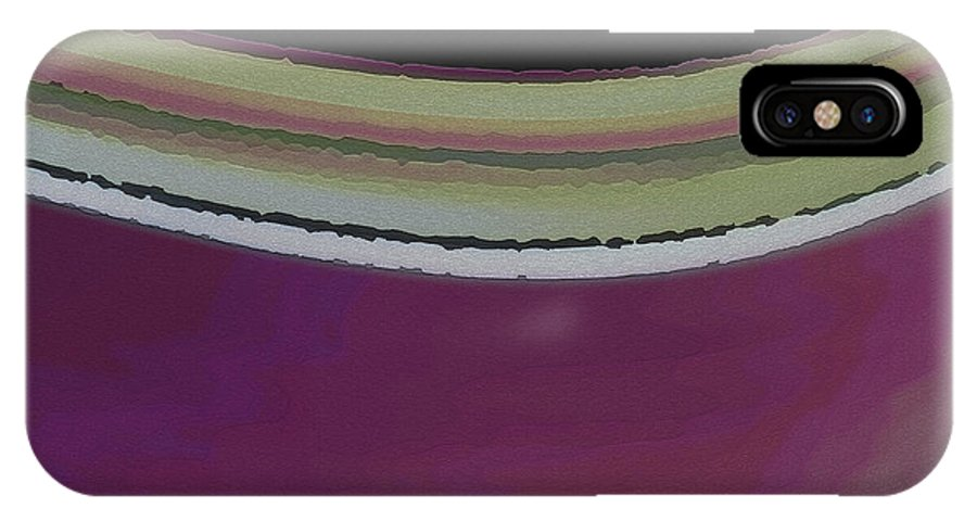 Abstract IPhone X Case featuring the digital art Slight Curve by Ruth Palmer