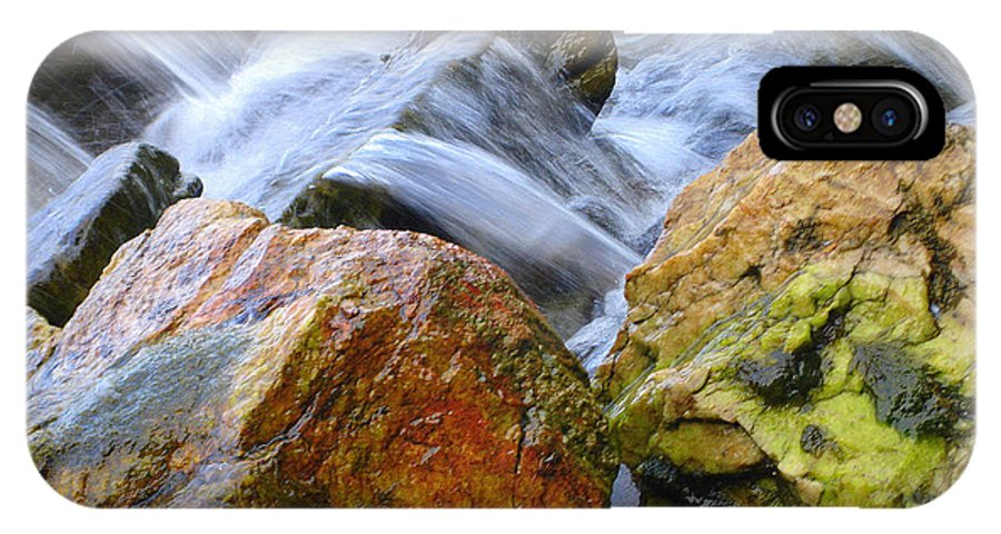 Rocks IPhone X Case featuring the photograph Slippery When Wet by Shelley Jones