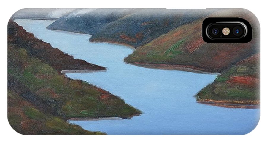 Water IPhone X Case featuring the painting Sliver Of Crystal Springs by Gary Coleman
