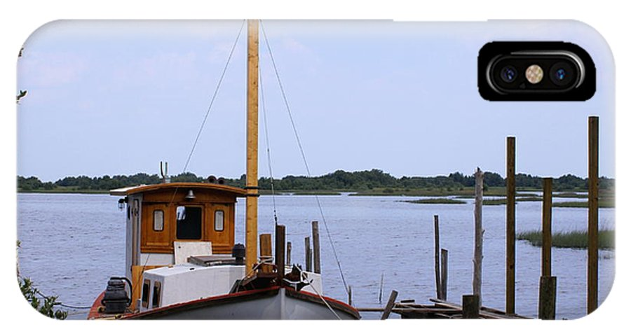Cedar Key IPhone X Case featuring the photograph Sloop In Paradise - Debbie May - Photosbydm by Debbie May