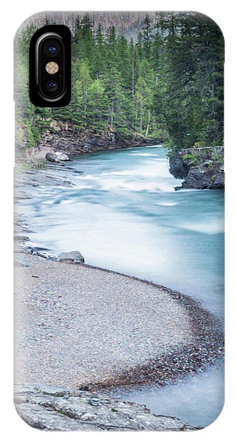 Mcdonald Cree IPhone X / XS Case featuring the photograph Slow Down On Mcdonald Creek by Blake Passmore