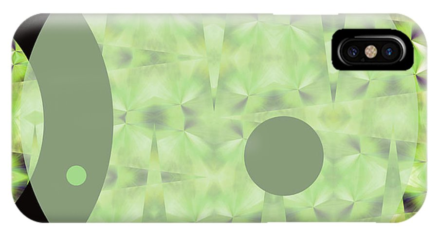 Abstract IPhone X Case featuring the digital art Slow Fade by Ruth Palmer