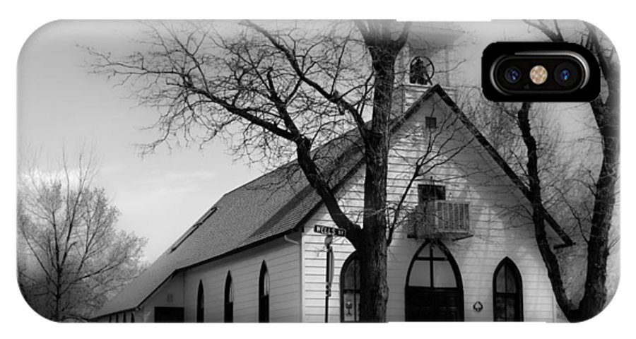Church IPhone X Case featuring the photograph Small Town Church by James BO Insogna