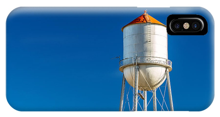 Water Tower IPhone X Case featuring the photograph Small Town Water Tower by Todd Klassy