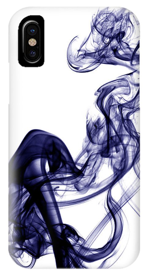 Photography IPhone X Case featuring the photograph Smoke Photography - Blue by Alexander Butler