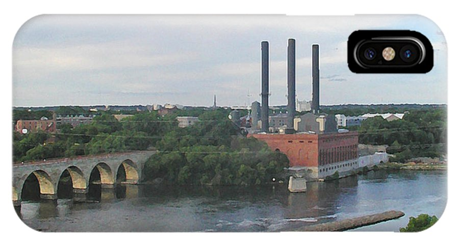 Minneapolis IPhone Case featuring the photograph Smokestacks On The Mississippi by Tom Reynen