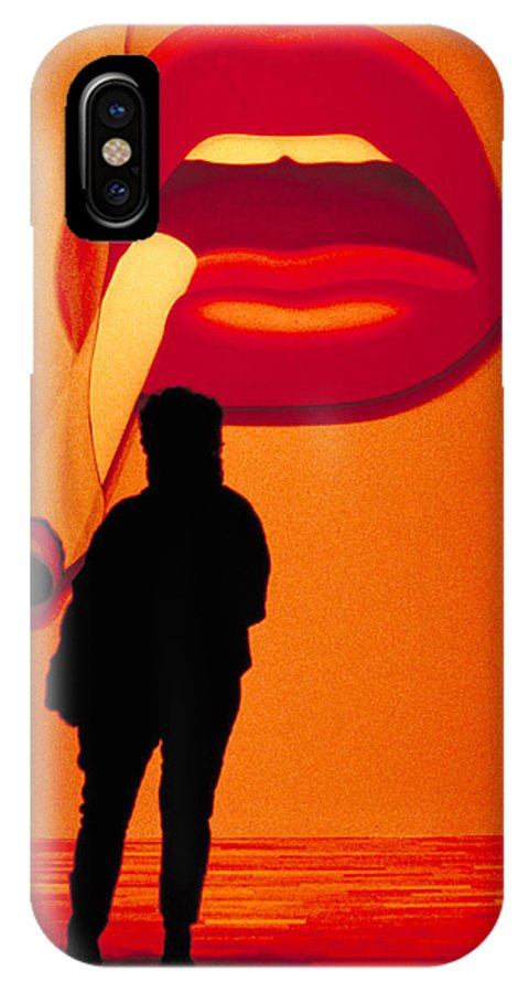 Smoke IPhone Case featuring the photograph Smoking Lips by Carl Purcell
