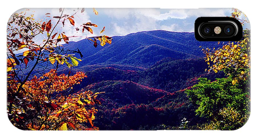 Mountain IPhone X Case featuring the photograph Smoky Mountain Autumn View by Nancy Mueller