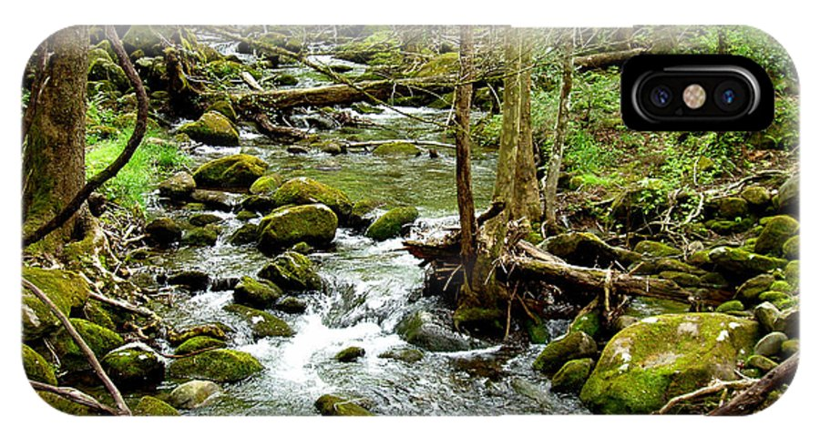 Smoky Mountains IPhone X Case featuring the photograph Smoky Mountain Stream 1 by Nancy Mueller