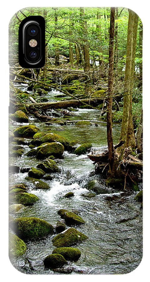 River IPhone X Case featuring the photograph Smoky Mountain Stream 2 by Nancy Mueller