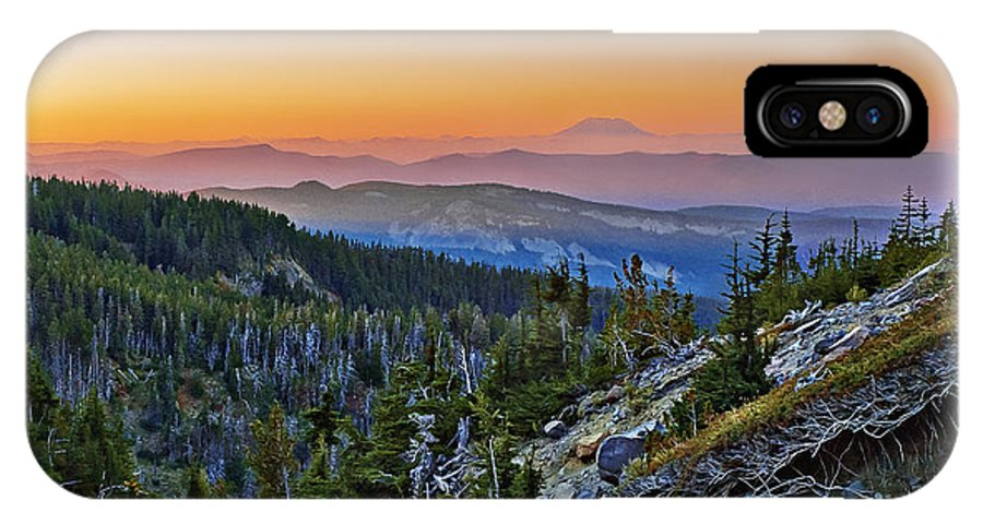 Smoke IPhone X Case featuring the photograph Smoky Twilight by John Christopher