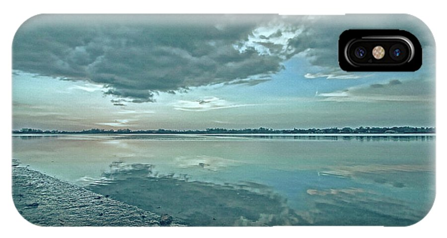 Blue Sky IPhone X Case featuring the photograph Smooth Blues by HH Photography of Florida
