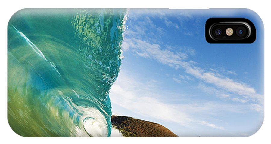 Aqua IPhone X Case featuring the photograph Smooth Wave - Makena by MakenaStockMedia