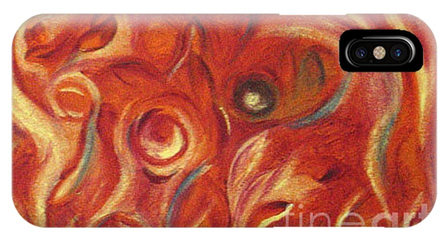 Colorfull IPhone X Case featuring the painting Snapy by Fanny Diaz