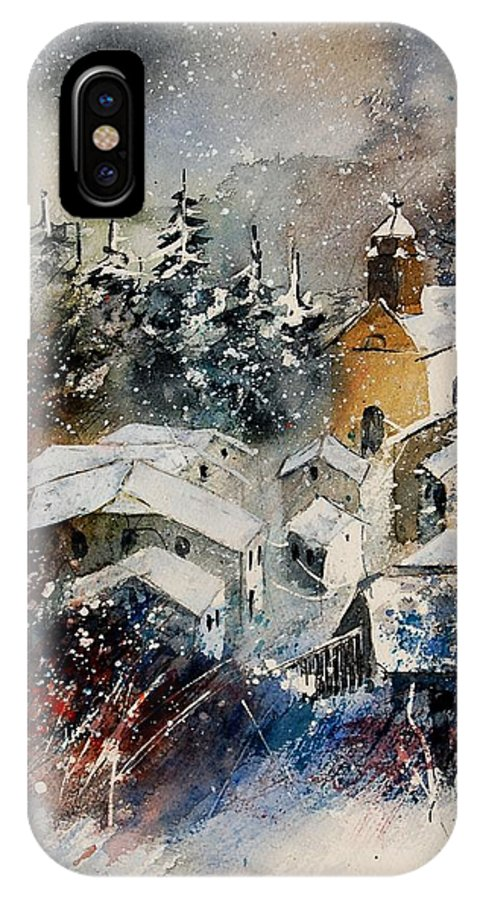Landscape IPhone Case featuring the painting Snon In Frahan by Pol Ledent