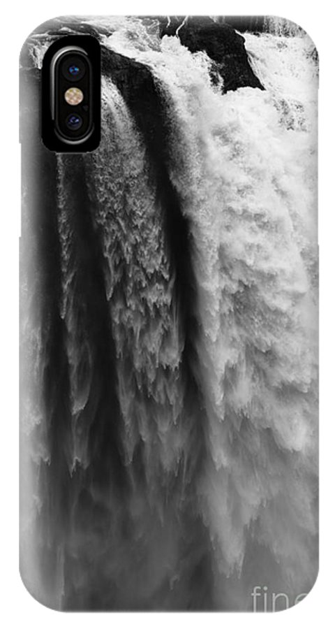 Seattle IPhone X Case featuring the photograph Snoqualmie Falls by Sandra McNair