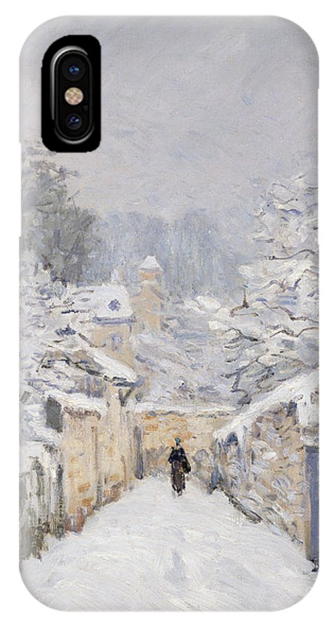 Snow IPhone X Case featuring the painting Snow At Louveciennes by Alfred Sisley