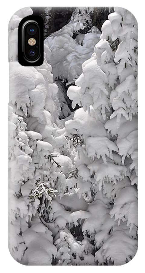 Snow IPhone Case featuring the photograph Snow Coat by Alex Grichenko