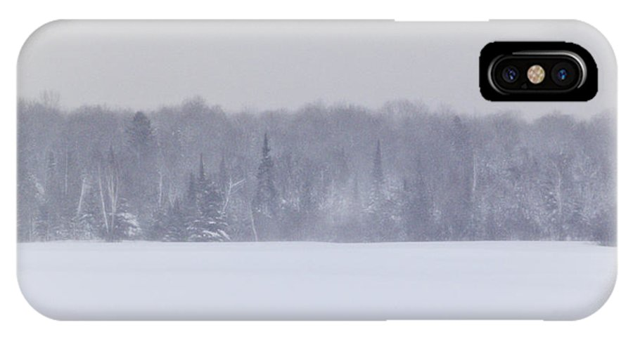 Snow IPhone X Case featuring the photograph Snow Globe by Kellie Prowse