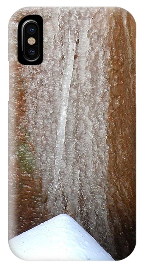 Snow Ice Rock Winter Colorado Roxborough Simple Zen  IPhone X Case featuring the photograph Snow Ice Rock by George Tuffy