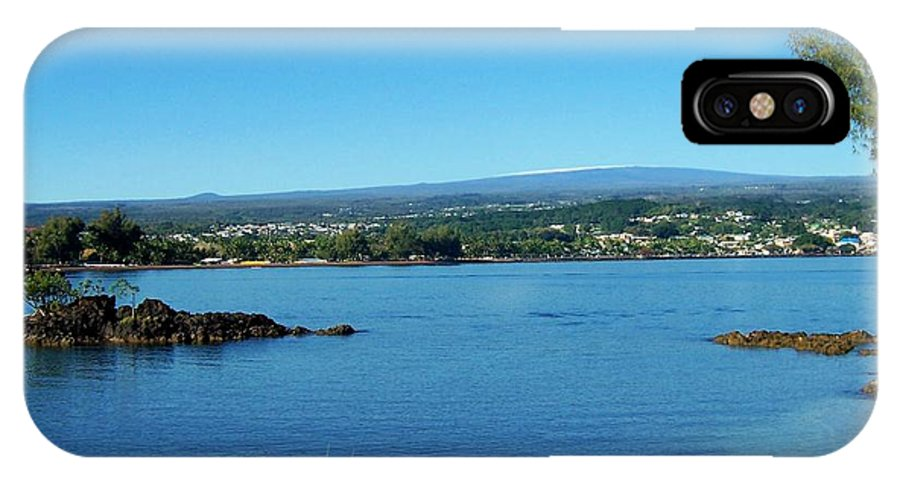 Hilo Bay IPhone X Case featuring the photograph Snow On Mauna Loa by Dina Holland