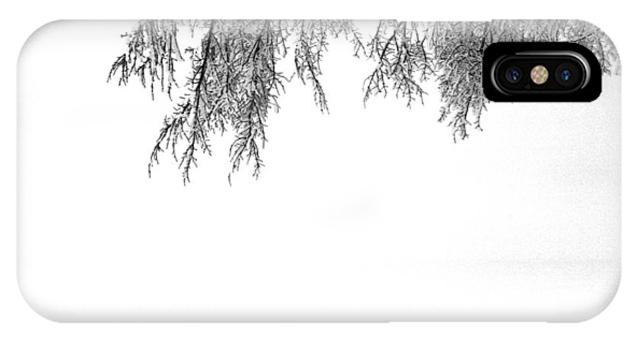 Abstract IPhone X Case featuring the photograph Snow On The Branches Two by Lyle Crump