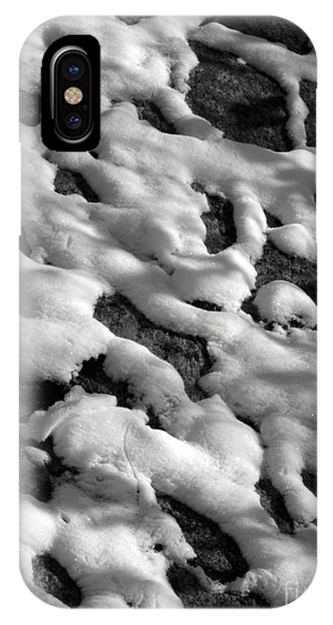 Black And White IPhone Case featuring the photograph Snow People by Chad Natti