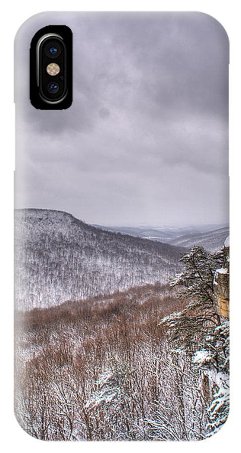 Snow IPhone X Case featuring the photograph Snow Remoteness by Douglas Barnett
