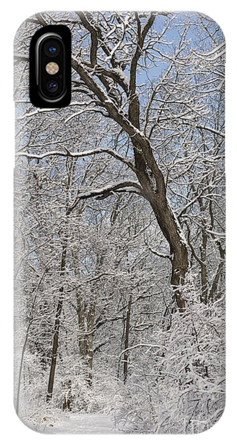 Snow IPhone X / XS Case featuring the photograph Snowfall by David Bearden