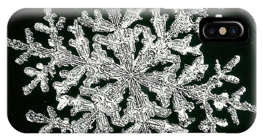 Snowflake IPhone X / XS Case featuring the photograph snowflake I by Dragica Micki Fortuna