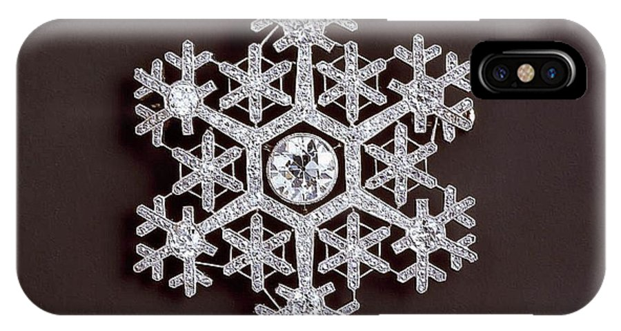 Snowflake IPhone X / XS Case featuring the photograph snowflake II by Dragica Micki Fortuna