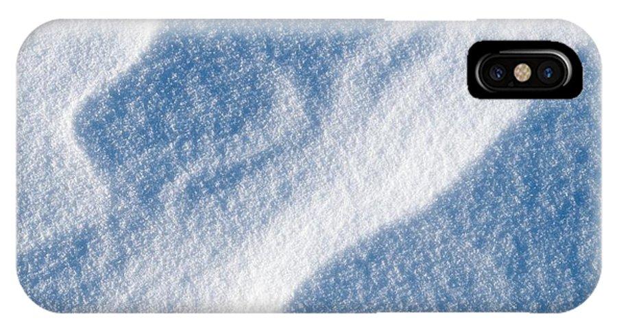 Talvi IPhone X / XS Case featuring the photograph Snowforms 2 by Jouko Lehto