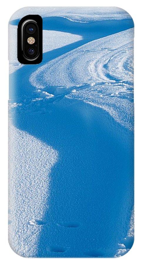 Talvi IPhone X Case featuring the photograph Snowforms 4 by Jouko Lehto