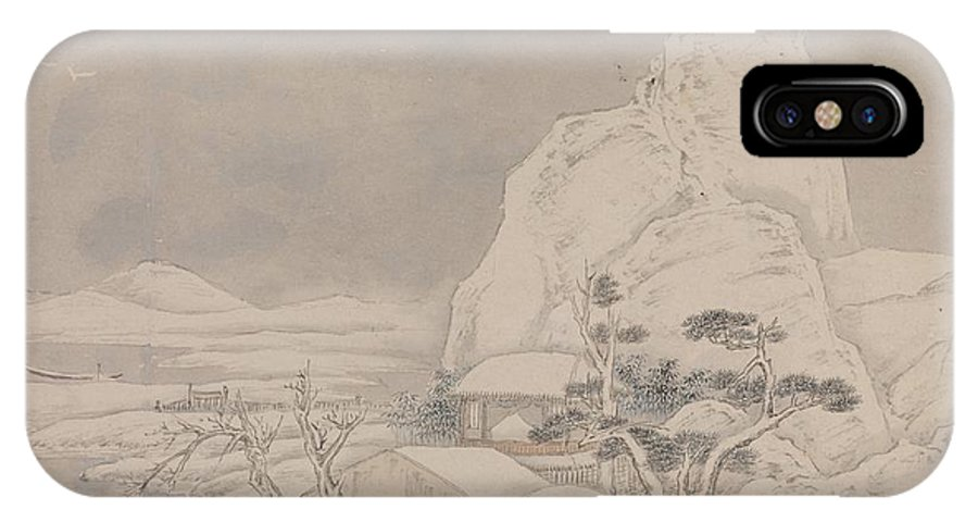 Ye Xin Snowscape From Album For Zhou Lianggong IPhone X Case featuring the painting Snowscape From Album For Zhou Lianggong by Ye Xin