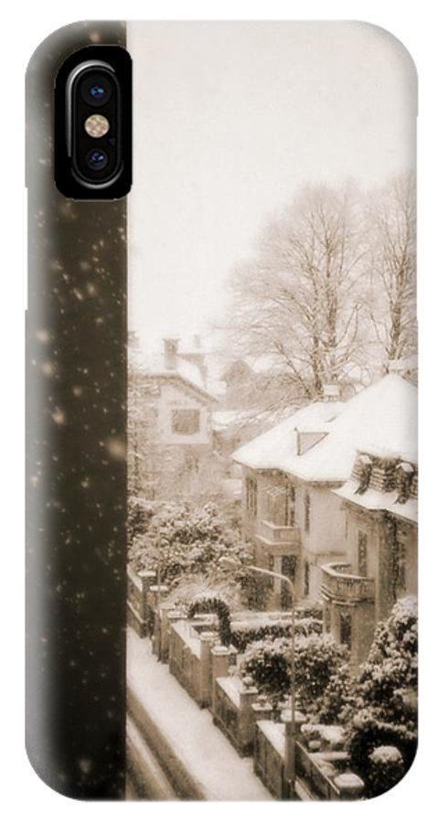 Snow IPhone X Case featuring the photograph Snowy Afternoon by Silvia Ganora