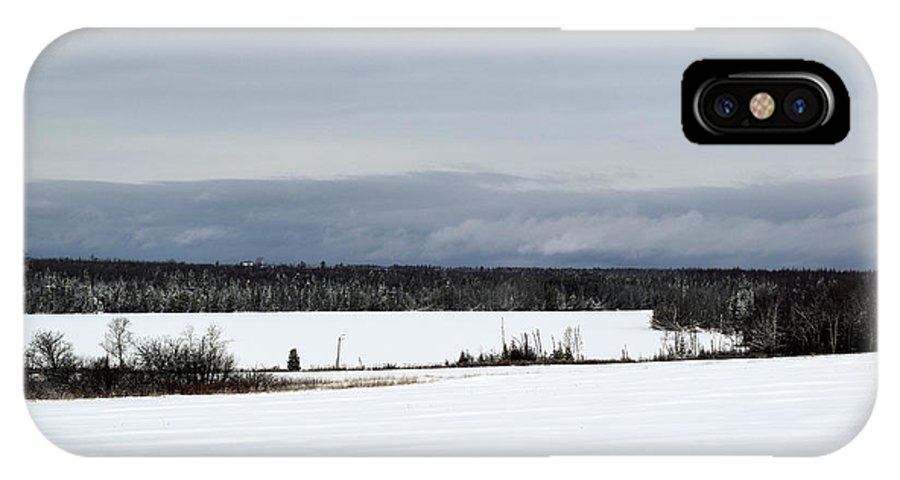 Landscape IPhone X Case featuring the photograph Snowy Lake by William Tasker
